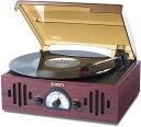 【公式 / 送料無料】ION Audio レトロ調 ミュジックプレーヤー 3種再生 【レコード、ラジオ、外部入力】 Trio LP