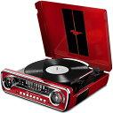 10%OFF!【公式 / 送料無料】ION Audio レコードプレーヤー 1965 年製 フォード マスタング デザイン 4種再生可能【レコード、ラジオ、USB、外部入力】 Mustang LP RD レッド