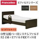フランスベッド 電動ベッド リクライニングベッド 棚付き O型支援バー付 システムファルド1