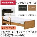 フランスベッド 電動ベッド リクライニングベッド 棚付き 照明付き U型支援バー付 システム