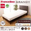 フランスベッド 電動ベッド(GR-01F) 2モーターフレーム ワイヤレス マットレス付(RX-030)