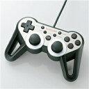 USBゲームパッド/PS3ゲーム用/12ボタン/振動/連射/高耐久/シルバーエレコムJC-GMU3312SPSVD【ポイント倍付1003-04】