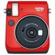 インスタントカメラ instax mini 70 レッド 富士フイルム INS MINI 70 RED