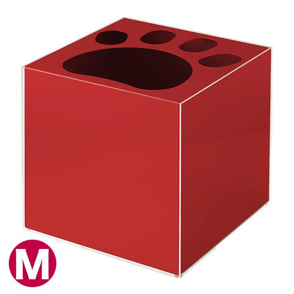 マルチボックス レッド Mサイズ 様々な用途で使えるシンプルなデザインのマルチボックス。