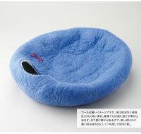 あす楽対応【キャットハウスkivikisキビキス】猫ベッドペットハウス洞穴うたた寝繭コクーンウールハンドメイド約6-8kg