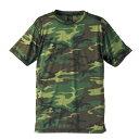 吸汗速乾ドライクールナイス カモフラージュ Tシャツ( 迷彩 Tシャツ) CB6589 ウッドランド Lサイズ