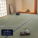 純国産/日本製 双目織 い草上敷 本間6畳(約286×382cm) ほほえみ 送料込!