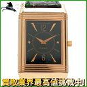 120635【送料無料】【中古】【ジャガールクルト】【JaegerLeCoultre】レベルソ クラシック 250.2.86 K18PG×革 ブラック(黒)文字盤 手巻き保付き GMT メンズ時計