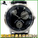128564【送料無料】【中古】【VACHERON CONSTANTIN】【ヴァシュロン・コンスタンチン】パワーリザーブ 47200 K18WG×革 ブラック(黒)文字盤 自動巻きバシュロン 世界三大時計 メンズ時計