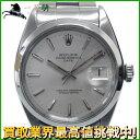 125822【送料無料】【中古】【ROLEX】【ロレックス】オイスターパーペチュアルデイト 1500 17番台 SS シルバー文字盤 自動巻き65年式 保証書付 メンズ時計