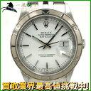 126220【送料無料】【中古】【ROLEX】【ロレックス】デイトジャスト サンダーバード 16264 A番 SS ホワイト(白)文字盤 自動巻きrolex 保証書付き メンズ時計