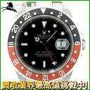 139691【送料無料】【中古】【ROLEX】【ロレックス】GMTマスターII 16710 U番 SS ブラック(黒)×レッド(赤)ベゼル ブラック(黒)文字盤 自動巻rolex メンズ時計