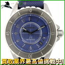 145747【送料無料】【中古】【CHANEL】【シャネル】J12 G10 クロマティック H4338 チタンセラミック ブルー文字盤 自動巻chanel メンズ時計