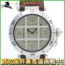 137172【送料無料】【中古】【CARTIER】【カルティエ】パシャグリッド K18WG ダイヤモンド シルバー文字盤 自動巻cartier 替えベルト メンズ時計