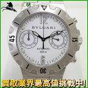 89077【送料無料】【中古】【BVLGARI】【ブルガリ】スクーバ クロノグラフ SCB38S SS ホワイト(白)文字盤 自動巻bvlgari メンズ時計