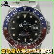 138474【送料無料】【中古】【ROLEX】【ロレックス】GMTマスター 16750 86番台 SS ブラック(黒)文字盤 自動巻Rolex アンティーク メンズ時計