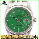 143780【送料無料】【中古】【ROLEX】【ロレックス】デイトジャスト 1603 7番台 SS グリーン文字盤 自動巻rolex アンティーク リダン メンズ時計