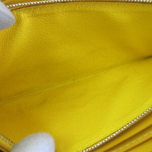 158051【送料無料】【中古】【GOYARD】【ゴヤール】マティニョンラウンドファスナー長財布PVC×カーフイエロー(黄色)goyardラウンドジップジップ長財布ZIP長財布