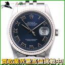 157132【送料無料】【中古】【ROLEX】【ロレックス】デイトジャスト 16234 U番 K18WG×SS ブルー(青)文字盤 自動巻rolex ローマンインデックス メンズ時計