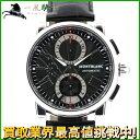 159713【送料無料】【中古】【MONTBLANC】【モンブラン】マイスターシュテック スター クロノグラフ 7104 SS ブラック(黒)文字盤 自動巻montblanc 4810 メンズ時計