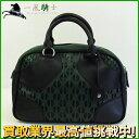 159963【中古】【MIUMIU】【ミュウミュウ】ボストンバッグ カーフ ブラック(黒)×グリーン(緑) RN0558miumiu トートバッグ ハンドバッグ