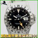 125098【送料無料】【中古】【ROLEX】【ロレックス】エクスプローラーII 1655 40番台 SS ブラック(黒)文字盤 自動巻rolex アンティーク 修理見積書 メンズ時計
