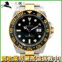 135294【送料無料】【中古】【ROLEX】【ロレックス】GMTマスターII 116713LN ランダム番 YG/SS ブラック(黒)文字盤 自動巻きrolex コンビ 保付 メンズ時計