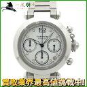 146567【中古】【CARTIER】【カルティエ】パシャC クロノグラフ SS ホワイト(白)文字盤 自動巻きcartier オートマチック メンズ時計