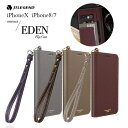 iPhoneXS ケース iPhoneX iPhone8 iPhone7 JTLEGEND 本革 ゴートスキン Eden Goatskin Leather Flip case with Hand Strap レザーケー..