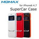 MOMAX iPhone6s iPhone6 ケース SuperCar Case 全3色 手帳型 レザーケース