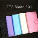 ZTE Blade E01 ケース スタンダード 手帳型 レザーケース 全4色 カード収納 カードケース入れ android