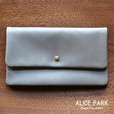 【4月上旬頃入荷予定】ALICE PARK アリスパーク Single Flap Wallet / 長財布シングルフラップウォレット グレー 送料無料
