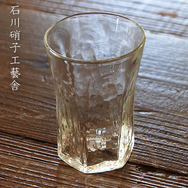 石川昌浩 吹きガラス 六角コップ (大)Lサイズ 石川硝子工藝舎