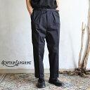 【Kaptain Sunshine】 Gurkha Trousers BLACK グルカトラウザーズ ブラックキャプテンサンシャイン メンズ グルカパンツ ピーチスキン 日本製【送料無料】