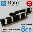 【4GBx2】IR8GMP800K8GB(4GBx2) DDR2/800MHz 240in FB DIMM
