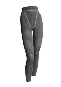 【新商品】【むくみ解消】Re・aesfou<リエスファ>プリント美脚タイツ-スパイラル・黒色(S、Mサイズ ヒップ82〜95cm)