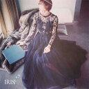 送料無料 即納【IRIS】ドレス フォーマル ロング ワンピース レース ウエディング 結婚式 長袖
