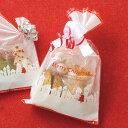 クリスマス スノータウンOPPギフトバッグ OPP袋 透明袋...