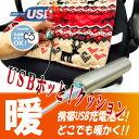 HOTTEM USB対応あったかクッション(レッド)【autumn_D1810】