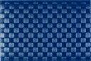 サリーン 耐熱温度80度・洗えるランチョンマットドイツ製 編みランチョンマット (ネイビーブルー)