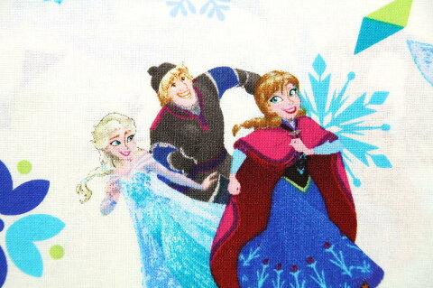 【期間限定 30%OFF】50cm単位 ディズニー アナと雪の女王 SPR63434-A620715 生地 布 キャラクター USAコットン 直輸入 正規ライセンス品