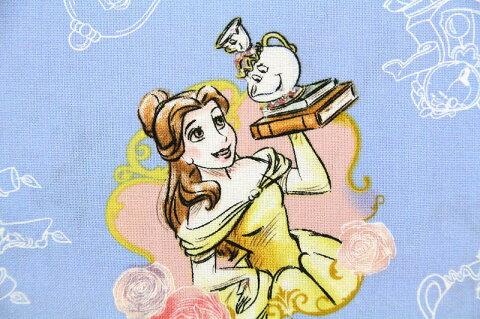 【期間限定 30%OFF】50cm単位 ディズニー 美女と野獣 SPR63290-A620715 生地 布 キャラクター USAコットン 直輸入 正規ライセンス品