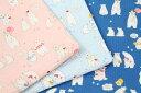 生地 1m単位 リップル シロクマさんの夏の休日 AP82601-5 布 綿 コスモテキスタイル K-WST【値下げ処分品】