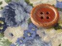 生地 50cm単位 ツイル フラワープリント ピオニー(アイボリー地/青系) 4326-B [在庫共有品] 布 花柄