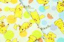 【10%OFF!キャラクターガーゼ】生地 キャラクター 50cm単位 ダブルガーゼ ポケモン ピカチュウ色鉛筆タッチ G-6057-1 布 綿 コッカ W-RWZ wg_ninki