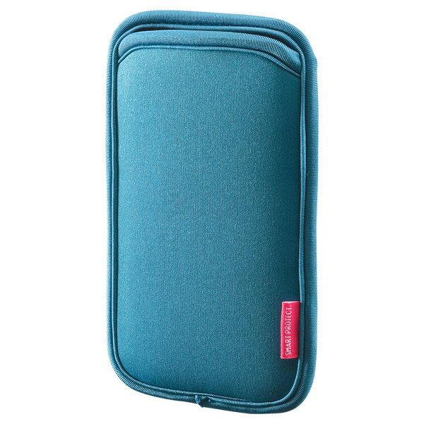 SANWA SUPPLY(サンワサプライ) マルチスマートフォンケース(5.5インチ用) PDA-SPC15BLスマホ ポーチ スマートフォン ポーチ スマホ入れ スマホケース スマホカバー スマホアクセサリー スマートフォン保護 軽い 便利 人気