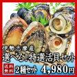 【送料無料】夏の選べる特選活貝2種詰合せ白あわび・さざえ・ムール貝・岩牡蠣・大アサリ・あっぱ貝の内お好みの2種類をお選びいただけます!【夏季限定】