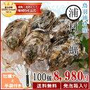 送料無料 浦村牡蠣100個 殻付き牡蠣 (牡蠣ナイフ・片手用軍手付き)発泡箱入 三重県