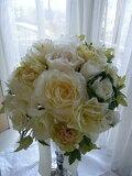 ブライダル(高級造花)ローズノーヴァ・葉牡丹・カレンアマリリス・ビュウティーローズ ブーケ