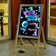 LEDボード 光る看板 電光掲示板 電子看板 665×470 Lサイズ 光る 看板 LED 手書き ライティングボード 店舗 広告 販促